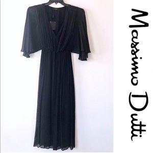 NWT Massimo Dutti black maxi dress